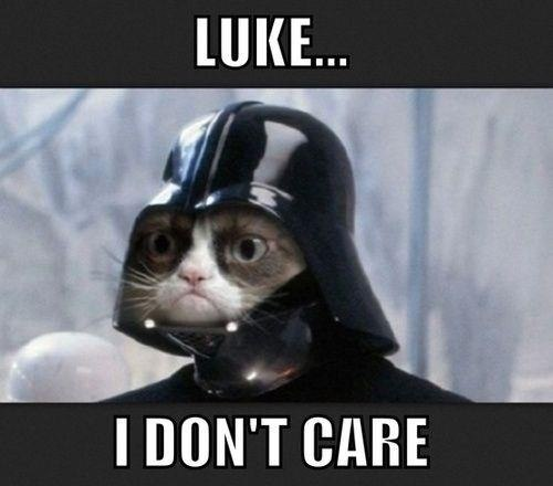 Grumpy Darth