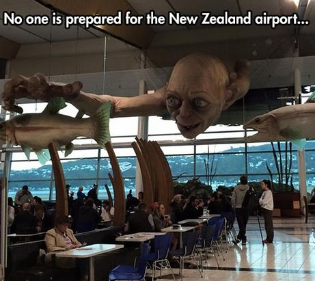 Awesome New Zealand arport