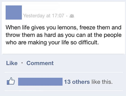 cool-Facebook-status-lemons-people