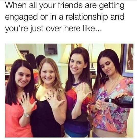 funny-girls-showing-rings-wine