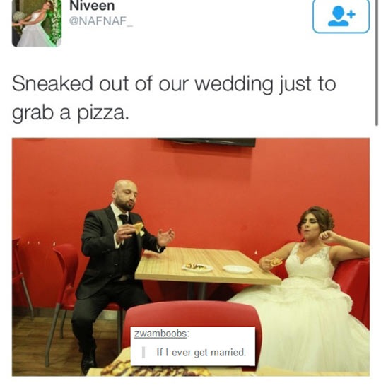 funny-married-couple-wedding-pizza
