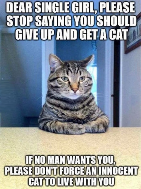 single-girl-cat-give-up