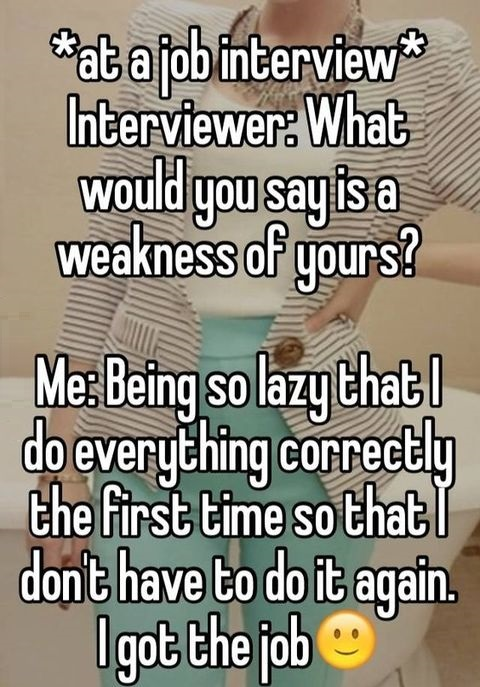 interview-weakness-correct