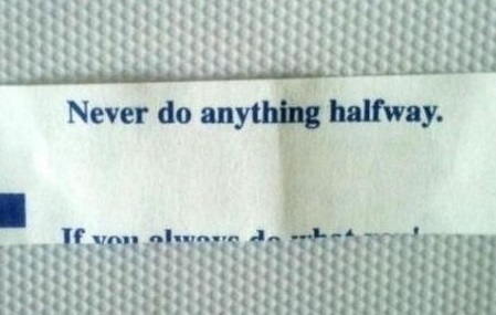 The ironic fortune cookie