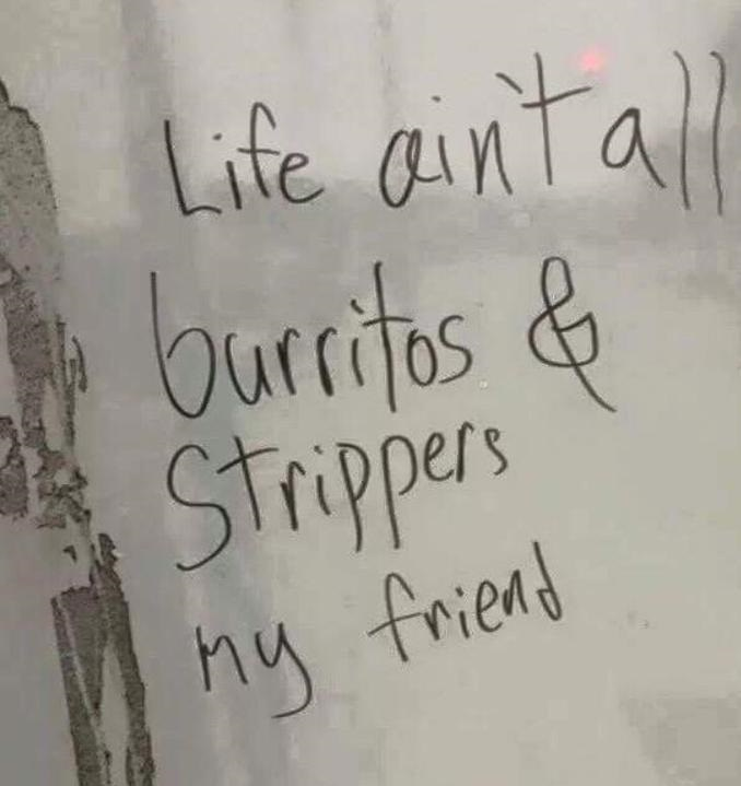 Life-burritos-strippers-sign
