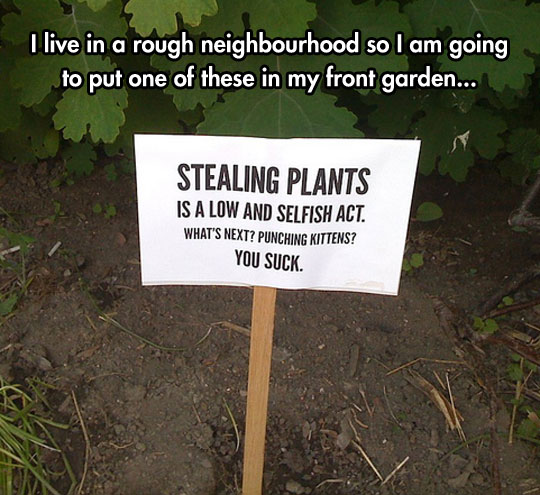 cool-park-sign-stealing-plants