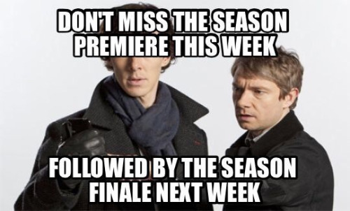 Sherlock series be like…