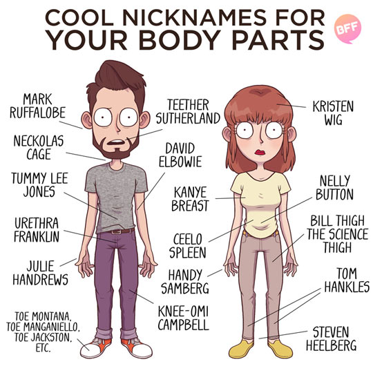 cool-cool-nickname-body-parts