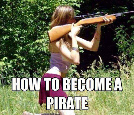 Become a pirate in 2, 3,1…