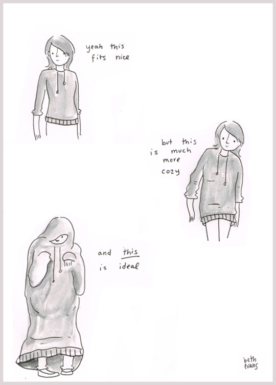 cool-woman-cartoon-big-sweater