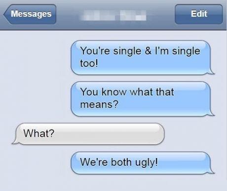 single-text-ugly