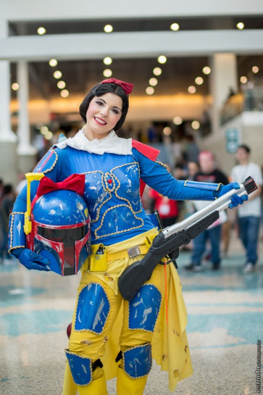 cool-snow-white-boba-fett-cosplay
