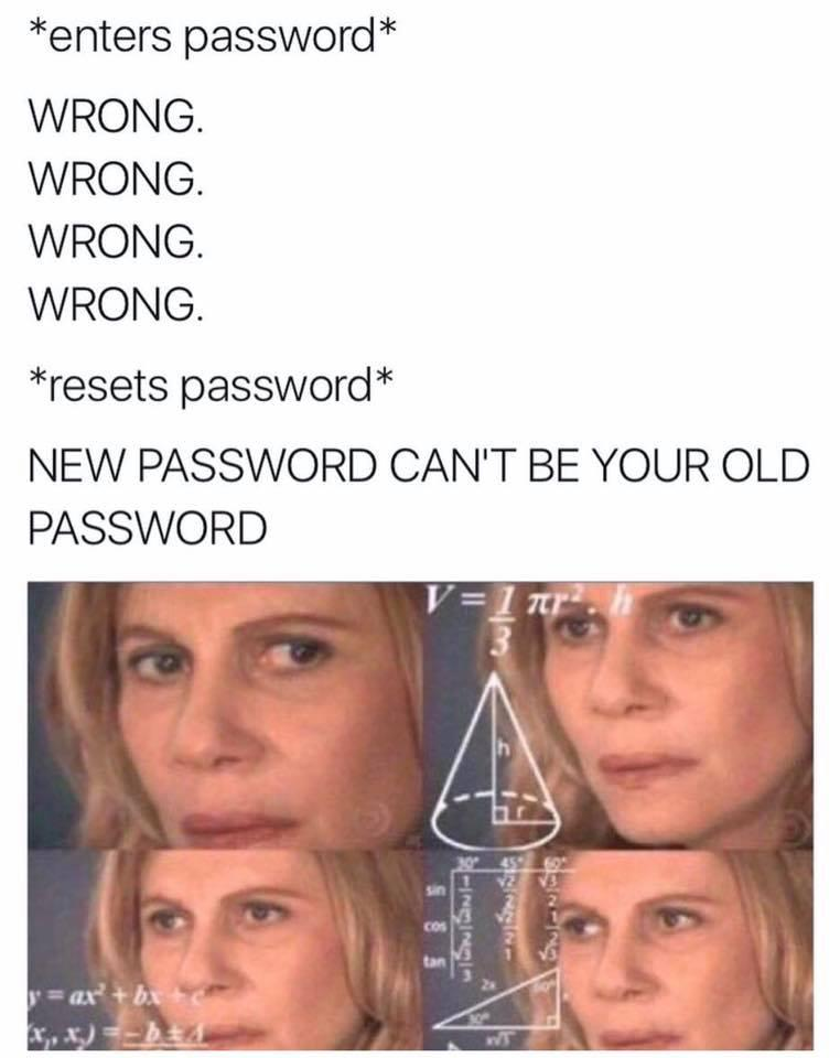 Wrong password