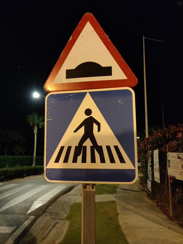 Please use the crosswalk otherwise you will be stolen by aliens