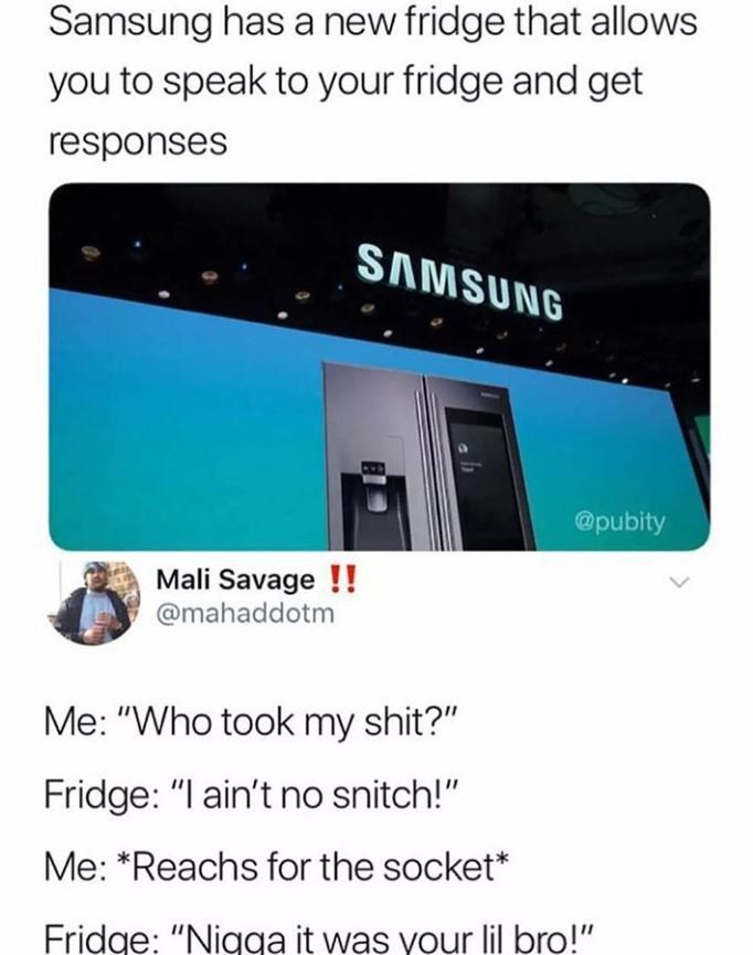 Samsung has a new fridge that allows you to speak to your fridge and get responses